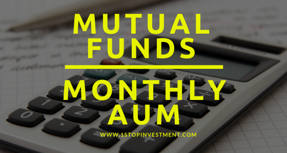 India Mutual funds Monthly AUM
