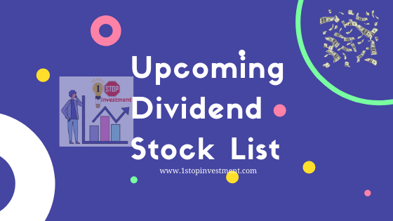 Upcoming Dividend Stocks list | Indian Stock Market